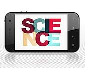 Science concept: Smartphone with Science on  display