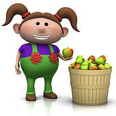 apple harvest - girl