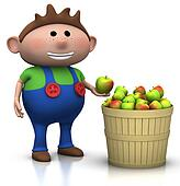 apple harvest - boy