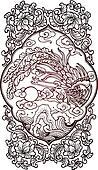 classic phoenix oriental bird