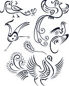 Tribal bird tattoo illustration