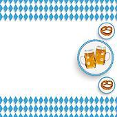 Bavarian National Colors White Centre Beer Pretzel