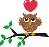 a sweet little brown owl love