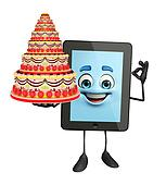Tab Character with cake