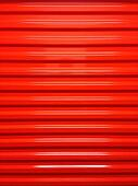 Red rollup door