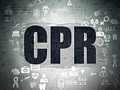 Medicine concept: CPR on Digital Paper background
