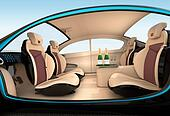Luxury car interior concept