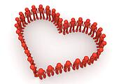 Heart shape formed by fancy characters - Crowds collection