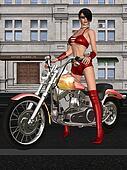 Sexy biker girl