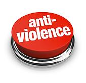 Anti-Violence Protest Red Round Button End Fighting War