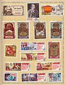 Soviet postage stamps 1970