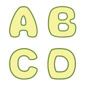 Stitched A B C D letters