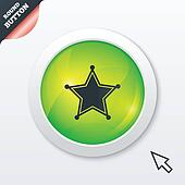 Star Sheriff sign icon. Police button.