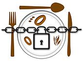 Locked Food Plate