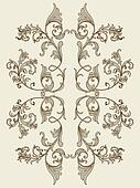 vintage floral element for seamless texture