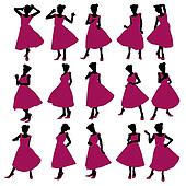 Prom Girl Illustration Silhouette