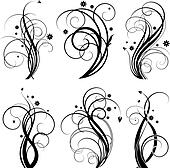 Black swirl design