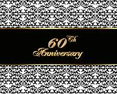 60th anniversary invitation card