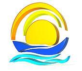 Boat sun logo