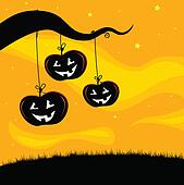 Halloween Jack O\'lantern Tree Back