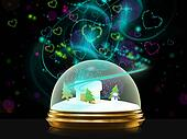 magical snow globe