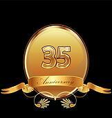35th anniversary birthday seal