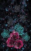 Flower rose color background
