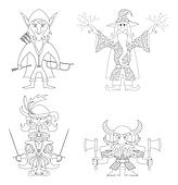 Fantasy heroes, outline, set