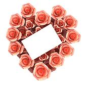Gift Card Shows Heart Shape And Flora