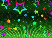 Rainbow Stars Background Shows Heavens And Astronomy