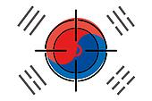 Sniper Scope on the flag of South Korea
