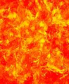 Fire flames background, LAVA structure. Computer collage. Earth Concept.
