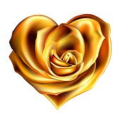 gold rose heart