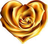 gold flower heart