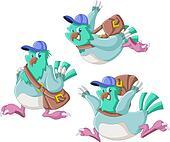 Cartoon carrier pigeon