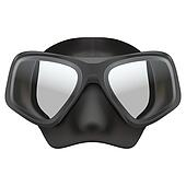 Underwater diving scuba mask. Isolated on white background. Bitmap copy.