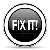 fix it icon, black chrome button