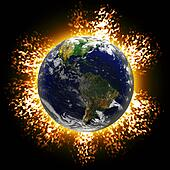 Exploding Earth