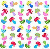 seamless fungus pattern