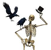 Mr Skeleton with Ravens