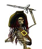 Fighting Skeleton Pirate