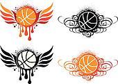 abstract basketball, vector