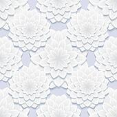 Beautiful gray seamless pattern with flowers