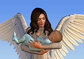 Angel Holding a Baby