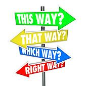 This Way That Which is Right Path Choice Arrow Signs Opportunity