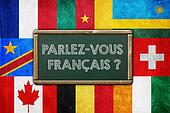 DO YOU SPEAK FRENCH - vintage background concept