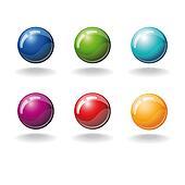 set of color balls