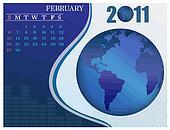 February Bussines Calendar.