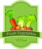 Fresh vegetables label