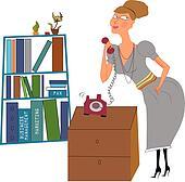 secretary in an office